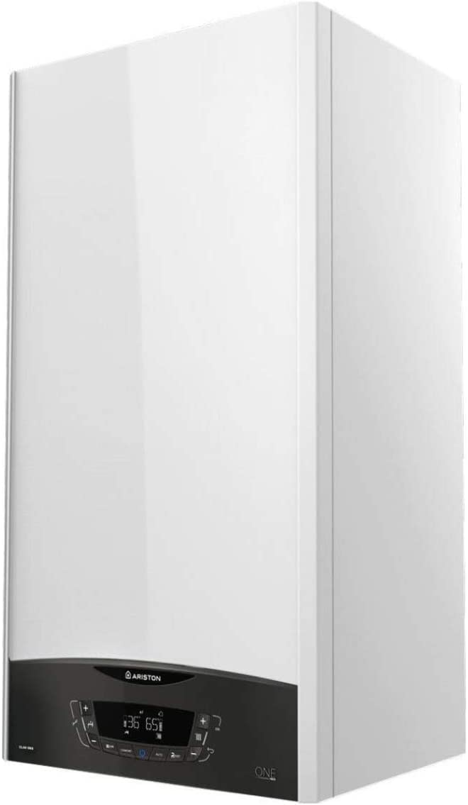 caldera de condensación, modelo Clas One B 35 FF EU para gas natural y propano, caldera de condensación con 40 litros de acumulación (Referencia: Ariston 3301212), blanco, estándar