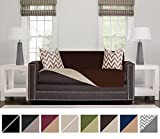 #9: The Original SOFA SHIELD Reversible Couch Slipcover Furniture Protector, 2 Inch Elastic Strap, Machine Washable, Cover Perfect for Pets and Kids, Seat Width Up to 54