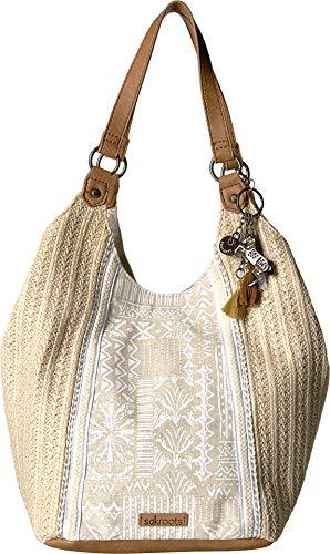 Sakroots Women's Roma Straw Shopper White Tribal Beauti One Size