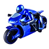 Fityle 1:16 RC Motorbike Speed Drift Car Toy Motorcycle with Transmitters Boys Xmas Gift Blue