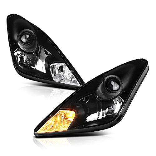 VIPMOTOZ Black Housing OE-Style Headlight Headlamp Assembly For 2000-2005 Toyota Celica, Driver & Passenger Side