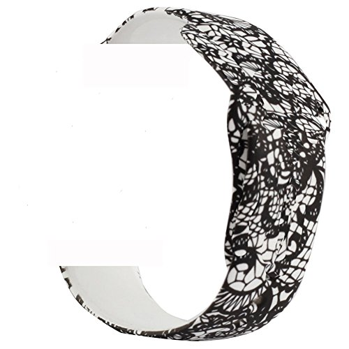 - Elastic Stretch Faux Pearl Bracelet Beaded Sport Band for Apple Watch 42mm 38mm Soft Silicone Strap Replacement iWatch Series 3 Series 2 Series 1 Women Girls Teen (Black Lace, 38mm)