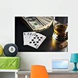 Poker Night Wall Mural by Wallmonkeys Peel and Stick Graphic (36 in W x 24 in H) WM48020