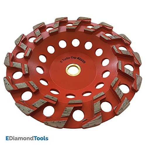 """7"""" Aggressive Grinding Wheel #20/25 Diamond 7/8-5/8"""" Arbor for Concrete and Paint, Epoxy, Mastic, Coating Removal"""