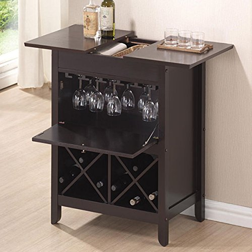Baxton Studio Agaue Modern and Contemporary Dark Brown - Liquor Table
