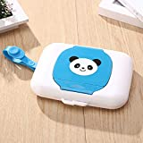 VIVIANE Wipes Box, Out Of The Baby Mouth Wipes Box, Portable Wet Tissue Box, Rope Cover Cover Tissue Box (Color : Blue)