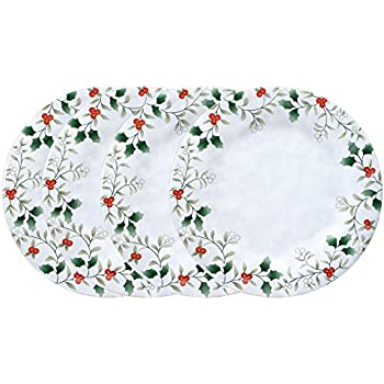 Pfaltzgraff Winterberry Melamine Dinner Plate (10-1/2-Inch Set of 4)  sc 1 st  Amazon.com : winterberry dinner plates - pezcame.com