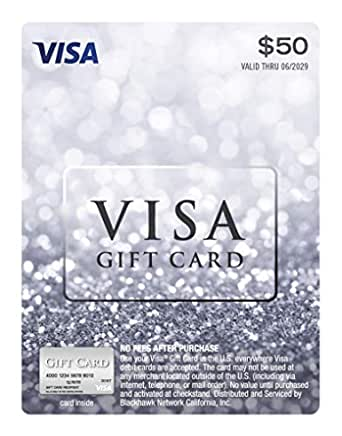 Amazon.com: $6 Visa Gift Card (plus $6.6 Purchase Fee) : Gift Cards