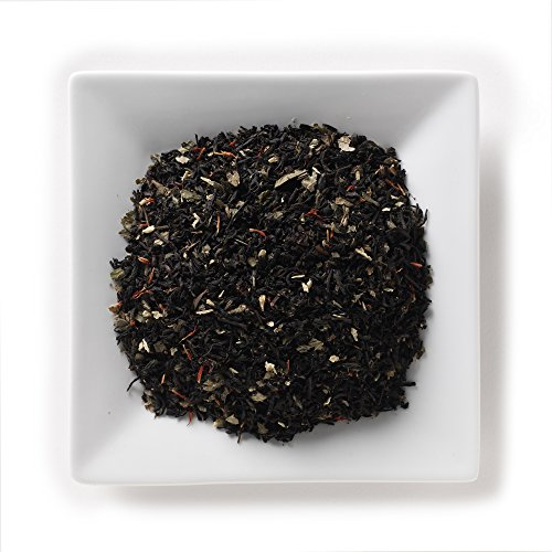 Mahamosa Irish Rum and Cream Tea 2 oz - Loose Leaf Flavored Black Tea Blend (with coconut shreds, wild strawberry leaves, flavoring, safflower) (Drinks Rum Black)