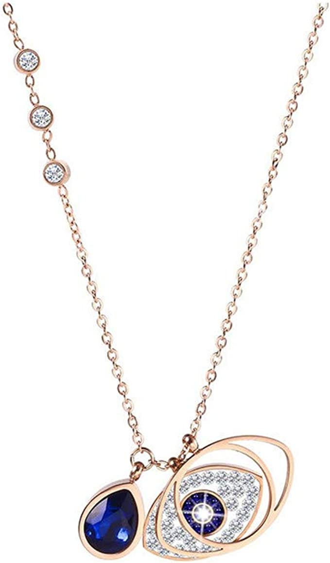 Crystal gold stainless steel necklace Stainless steel necklace