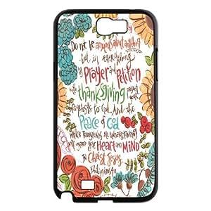 Samsung Galaxy Note 2 Case Philippians, Samsung Galaxy Note 2 Case Bible Philippians, [Black]