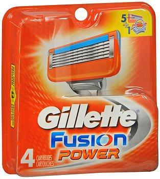 Gillette Mens Fusion 5 Cartridges 4 Count (6 Pack)
