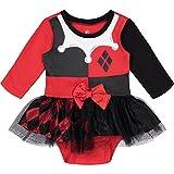 Warner Bros.. Harley Quinn Newborn Baby Girls' Costume Bodysuit Dress, 0-3 Months