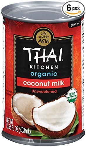 Thai Kitchen Organic Coconut Milk, Unsweetened nLQLCi - 6 Count (3 Pack) by Thai Kitchen