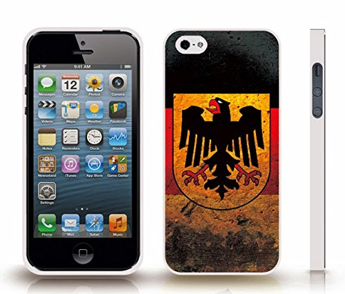 Istar Cases  Iphone 4 Case With Germany Flag Grunge Look Design   Snap On Cover  Hard Carrying Case  White