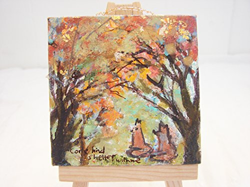 Mini Original ~One of a Kind~ Acrylic Painting on Canvas - Christmas (Holiday Tiny One Ornament)