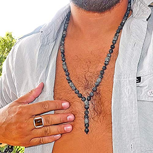Men Necklace - Labradorite Necklace - Surfer necklace - Fashion Boho necklace