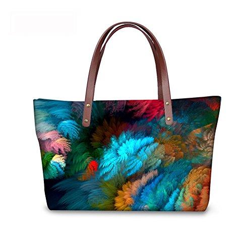 Large Women Tote Top C8wc0822al Handle Satchel FancyPrint Handbags Bages Pqdx1wPOt