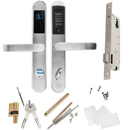 MagiDeal Cerraduras Electrónicas de Puerta de Digitaces Antirrobo, Llave o Desbloqueo de Tarjeta de RFID