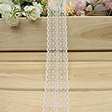 "Romantic Wedding 1.8"" Decorative Lace Ribbon,DIY Bow Accessories,100 Yards.White"