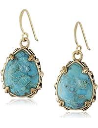 Jubilee Teardrop Bronze and Turquoise Earrings