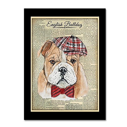 Trademark Fine Art English Bulldog by Jean Plout