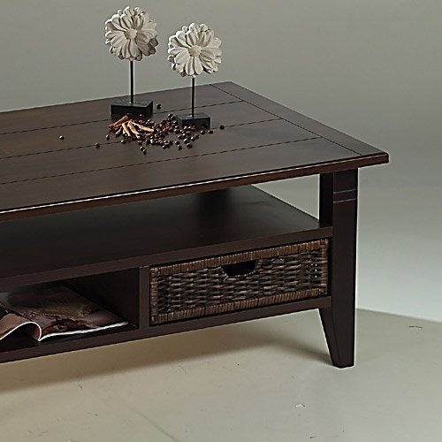 Couchtisch In Wenge Kolonial Incl Rattankorb L B H Ca 110 70 48