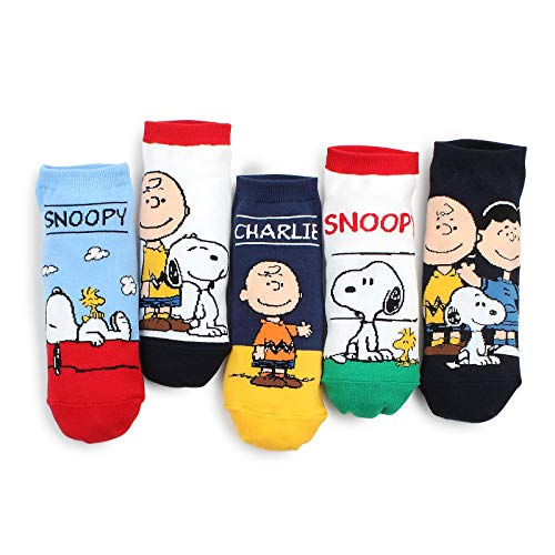 The Peanuts Movie Official Socks (Lowcut 5pairs) KT for $<!--$13.90-->