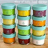 Glass Baby Food Storage Containers, Set of 12, 4oz