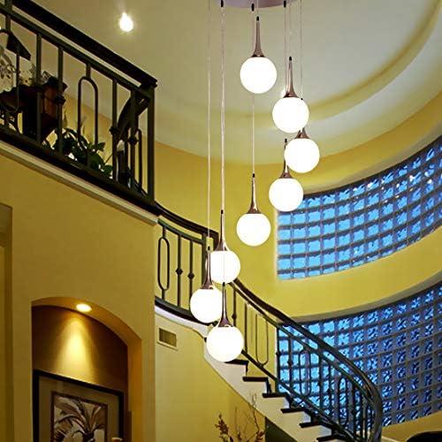 Desconocido Lampara de Techo de diseño Ocho Bolas DE Cristal Colgantes para Escalera - Envio INMEDIATO Desde ESPAÑA: Amazon.es: Hogar