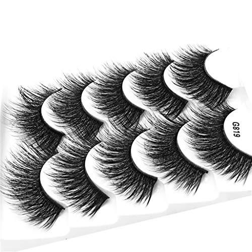e4e5c8115fe 3D Eyelash Imitation Mink Natural Thick False Eyelash 5 Pairs (J)