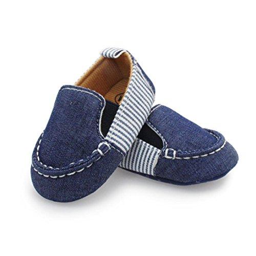 SMARTLADY Niños infantiles bebé Niños Niñas Zapatos de Lienzo Azul