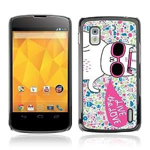Designer Depo Hard Protection Case for LG Nexus 4 E960 / Cool Cute Cat