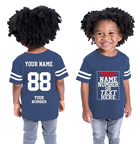 (Custom Cotton Jerseys for Toddlers and Kids - Make Your OWN Casual Outfit Navy)