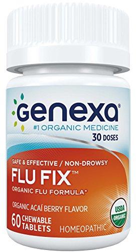 Genexa-LLC-Flu-Fix-Organic-Flu-Formula-Organic-Acai-Berry-Flavor-60-Chewable-Tablets
