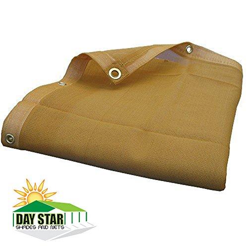 10X12 (Beige) HD Mesh Tarp Net Sun Shade Fence Screen Patio Canopy Top