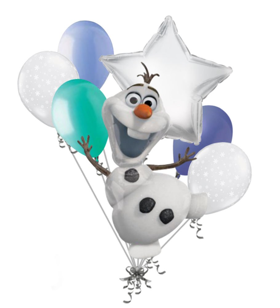 7 PC Disney Frozen雪だるまオラフ誕生日バルーンブーケパーティー装飾プリンセス   B01AZQG0GQ