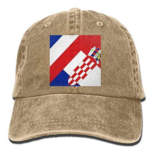 WANING MOON Croatian Flag French Flag Cowboy Hat Adjustable Baseball Cap Sunhatcap Peaked Cap