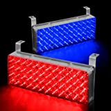 96 LED Emergency Warning Flashing Strobe Lights with 3 Mode Controller - Red & Blue