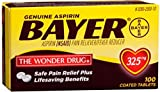 Bayer Aspirin 325mg Tablets 100 ea (Pack of 8)