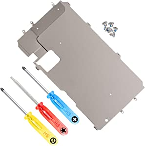 MMOBIEL LCD Metal Back Plate Replacement Compatible with iPhone 7 Plus with Heat Shield incl Screws and Screwdrivers