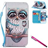 clear back blue bumper iphone5s - iPhone 5S Case, iPhone 5 Wallet Case, Firefish Kickstand Flip [Card Slots] Double Layer Bumper Shell with Magnetic Closure Strap Protective Case for Apple iPhone 5/5S/SE-Owl