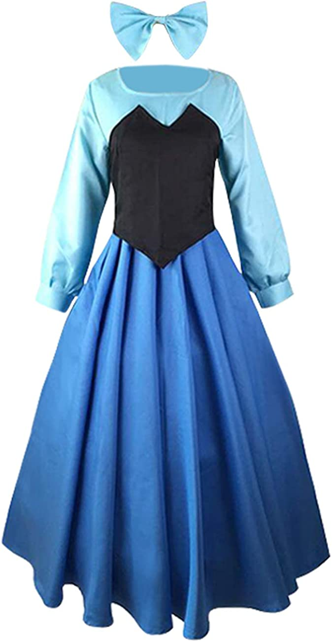 Women Adult The Little Mermaid Princess Ariel Party Cosplay Costume Outfit Dress