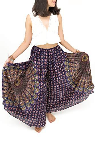 (Cotton Rose, Spell, Palazzo Pants for Women Petite, to Regular US2-12, Cullotes Pants, Super Wide Leg Pants, Gypsy Pants, Hippie Pants, Bohemian Pants, Buddha Pants, Thai Pants, Boho Pants (PSF Donna))
