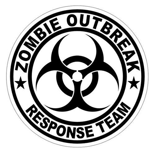 1 Pcs Leading Popular Zombie Outbreak Response Team Car Sticker Sign Badge Label Vinyl Emblem Safety Decals Size 2