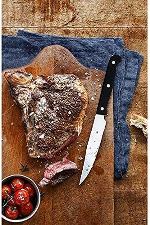 WMF Set Cuchillos Carne Kansas 6 Piezas, Acero, 25 X 12 X 4 Cm, 6 Unidades