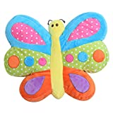Snuggle Stuffs Brilliant Butterfly 16'' Minky Plush Throw Pillow