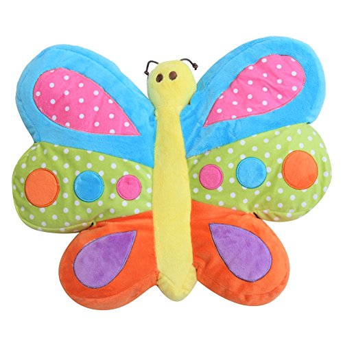 Snuggle Stuffs Brilliant Butterfly 16'' Minky Plush Throw Pillow by Snuggle Stuffs