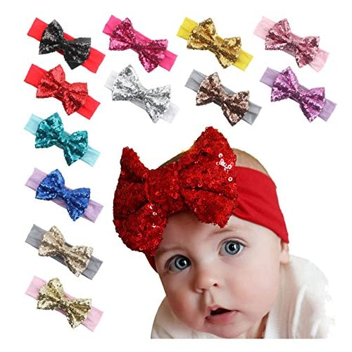 Ms.Gaga Baby Girl Toddler Sequined Bow Head...