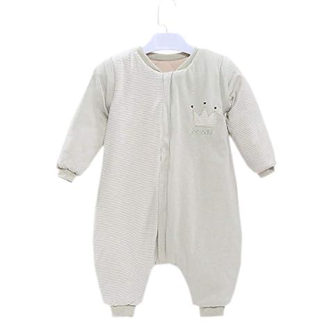 TUWEN Saco de Dormir para Bebés 100% Algodón Antideslizante es Espeso para Niños y Niñas